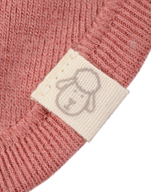 Cagulă dark pink din lână merinos organică pentru copii Dilling 1