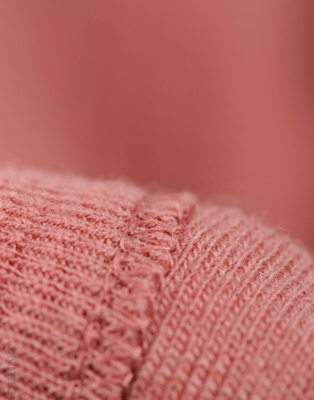 Cagulă dark pink din lână merinos organică pentru copii Dilling 2