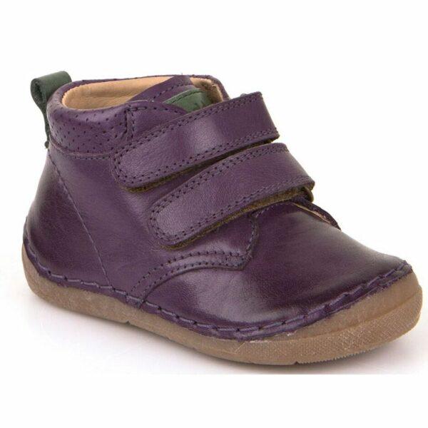 Ghetuţe din piele cu talpă extra flexibilă Froddo Purple