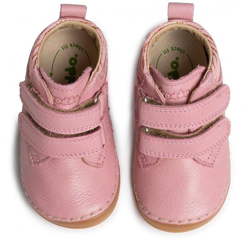 Ghetuţe din piele cu talpă extra flexibilă pink metallic Froddo 4