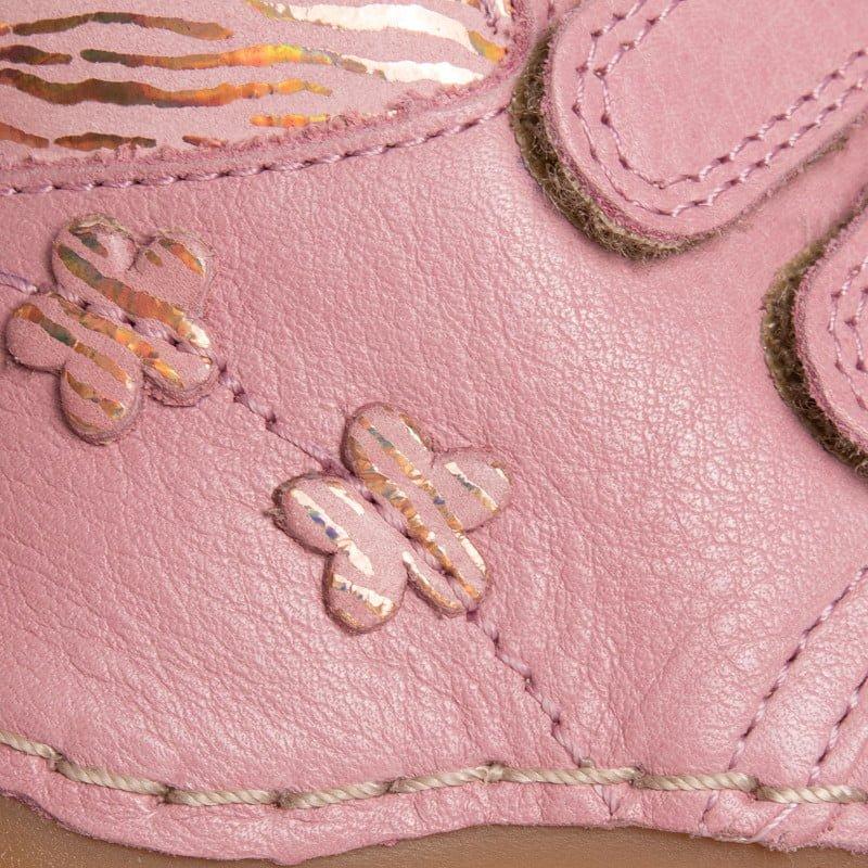 Ghetuţe din piele cu talpă extra flexibilă pink metallic Froddo 5