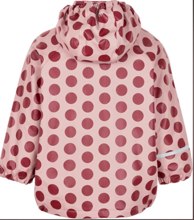 Jachetă de ploaie și vânt căptușită integral cu fleece dots misty rose CeLaVi 2