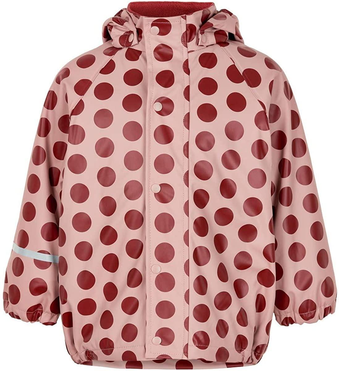 Jachetă de ploaie și vânt căptușită integral cu fleece dots misty rose CeLaVi