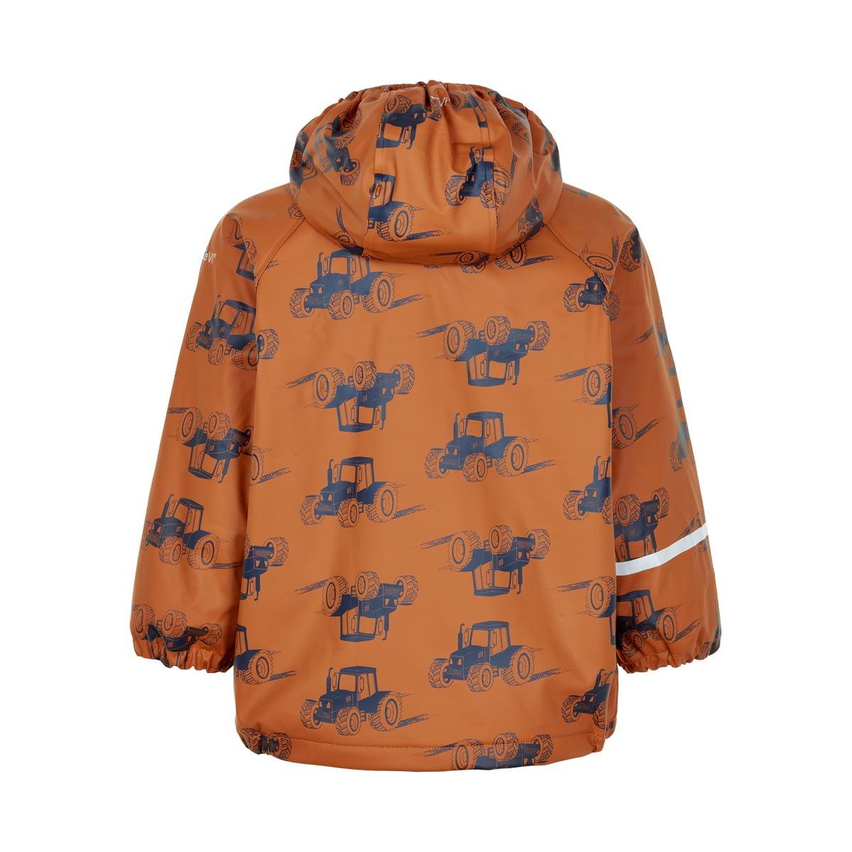 Jachetă de ploaie și vânt căptușită integral cu fleece pumpkin spice CeLaVi 2
