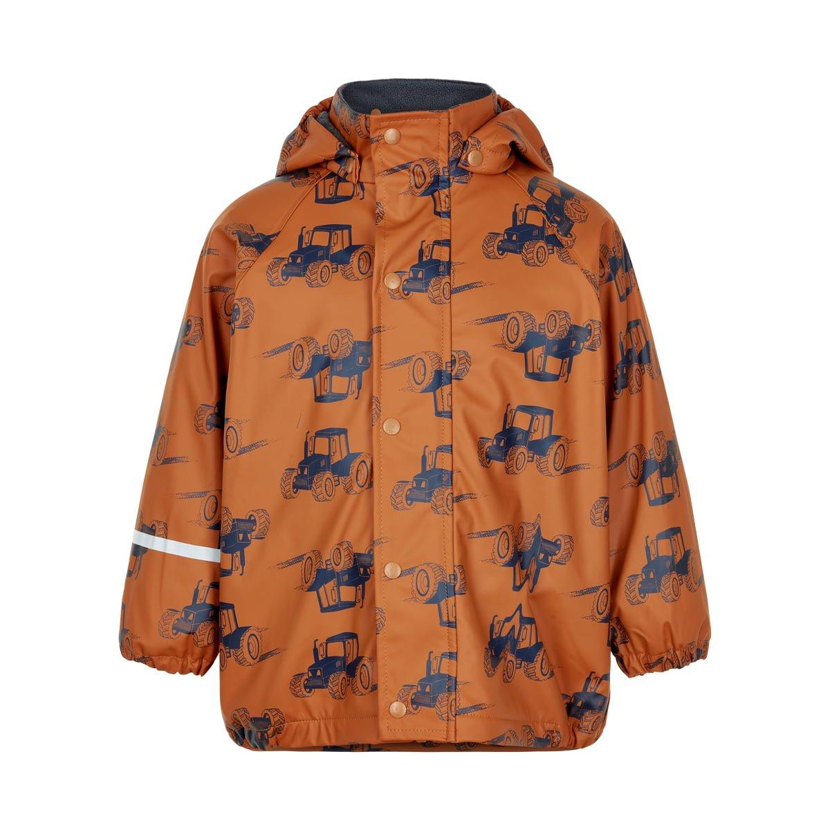 Jachetă de ploaie și vânt căptușită integral cu fleece pumpkin spice CeLaVi