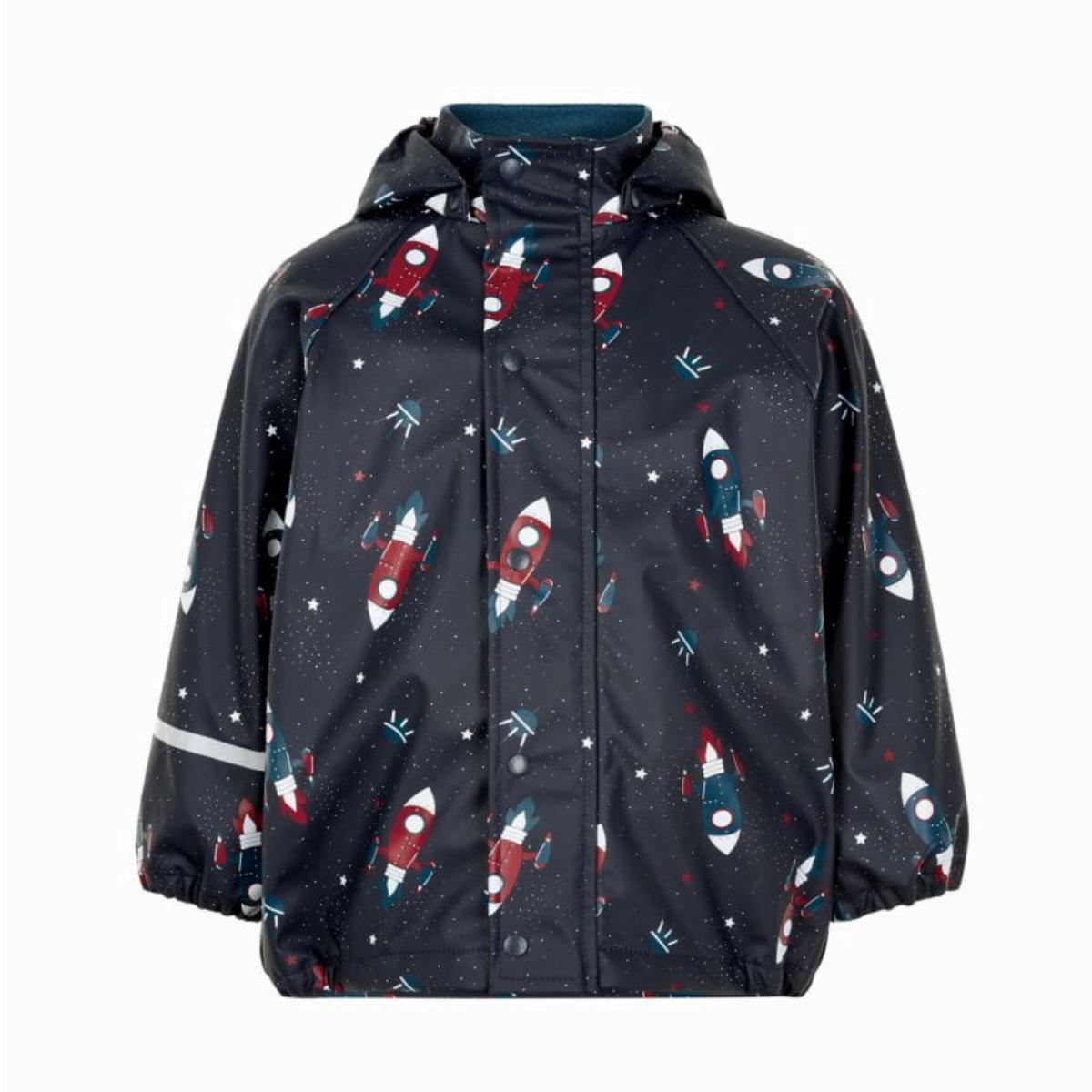 Jachetă de ploaie și vânt căptușită integral cu fleece space ice blue CeLaVi