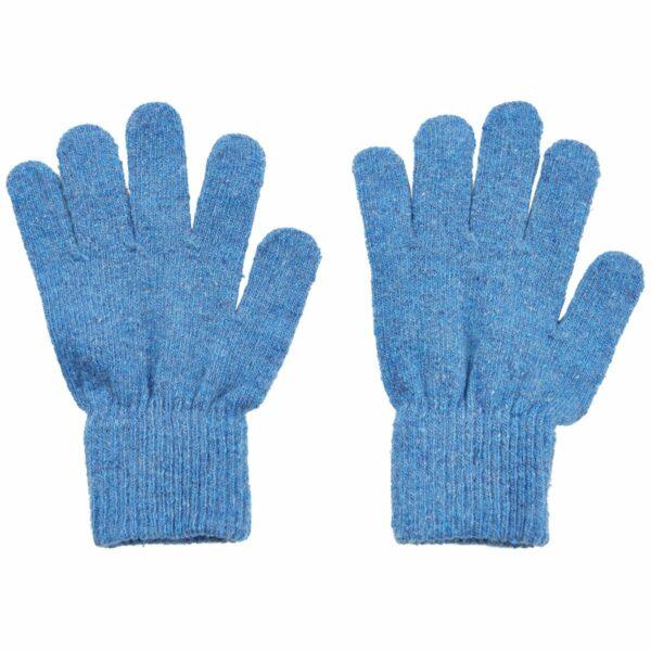 Mănuși cu degete din lână tricotată blue CeLaVi