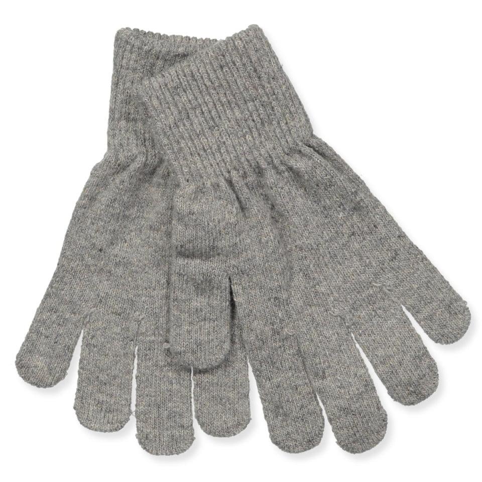 Mănuși cu degete din lână tricotată grey CeLaVi