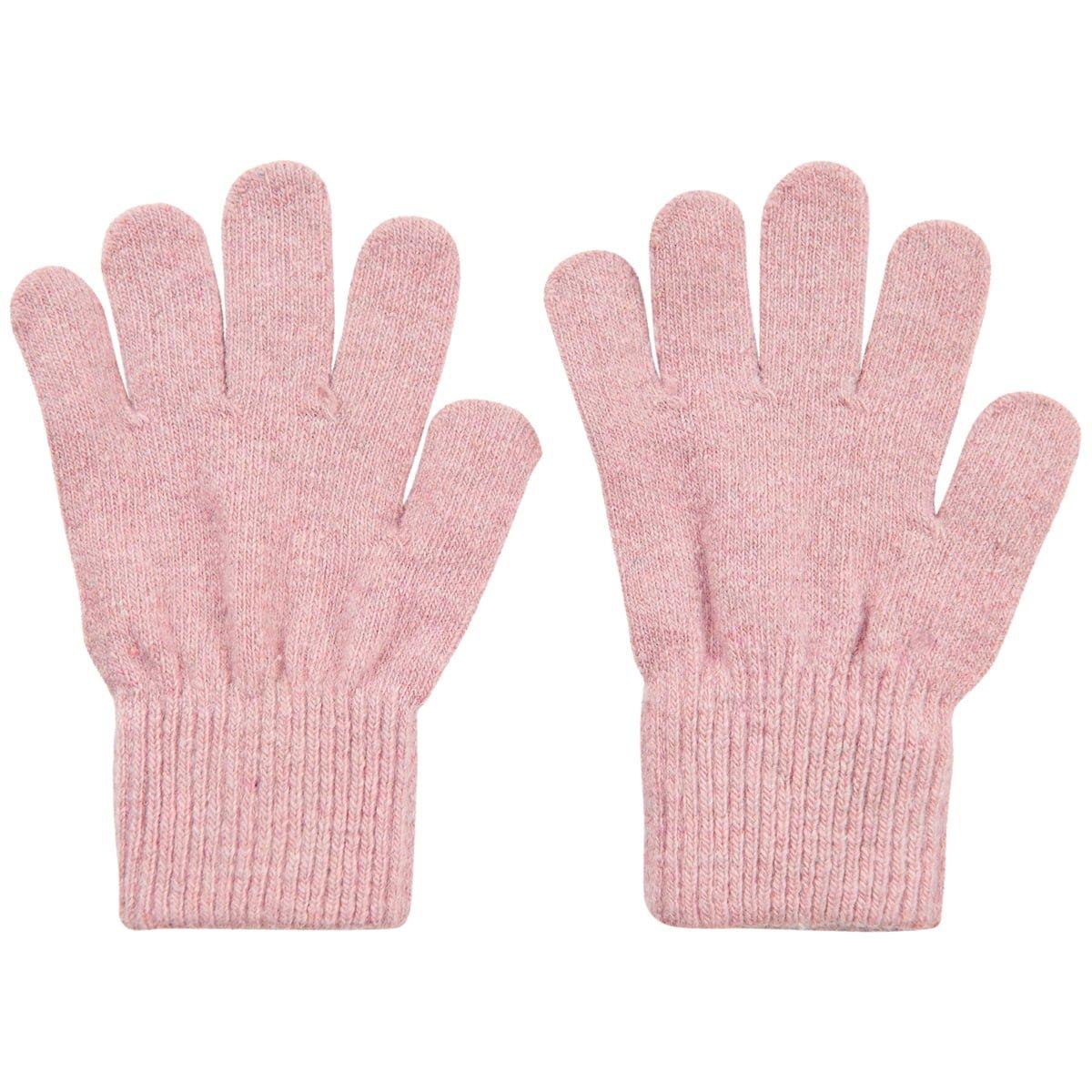 Mănuși cu degete din lână tricotată misty rose CeLaVi