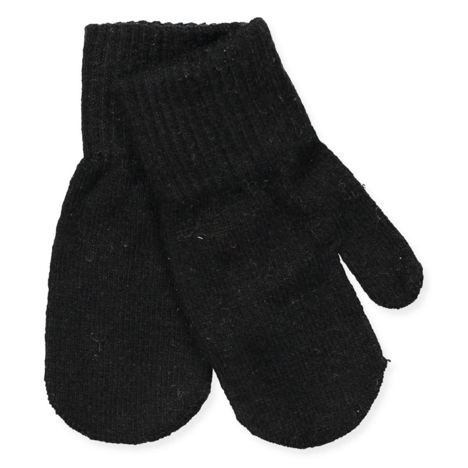 Mănuși pentru bebeluşi din lână tricotată black CeLaVi