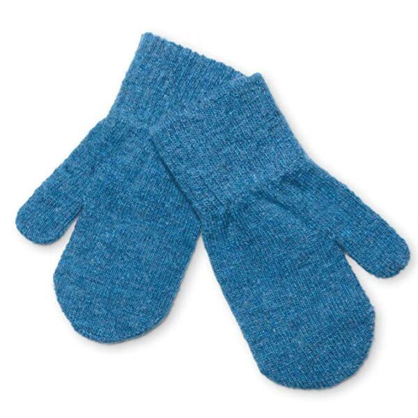 Mănuși pentru bebeluşi din lână tricotată iceblue CeLaVi