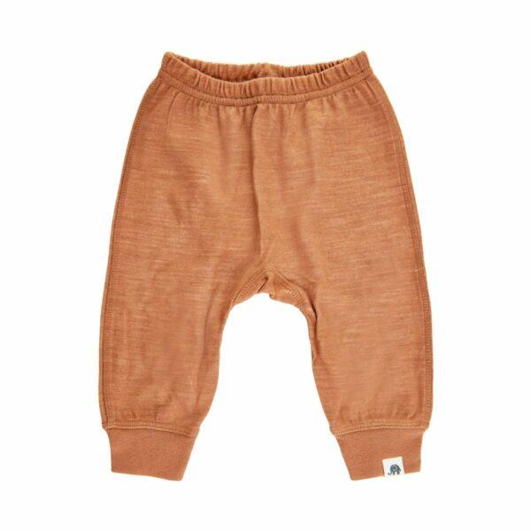 Pantaloni șalvari din lână merinos şi bambus adobe CeLaVi