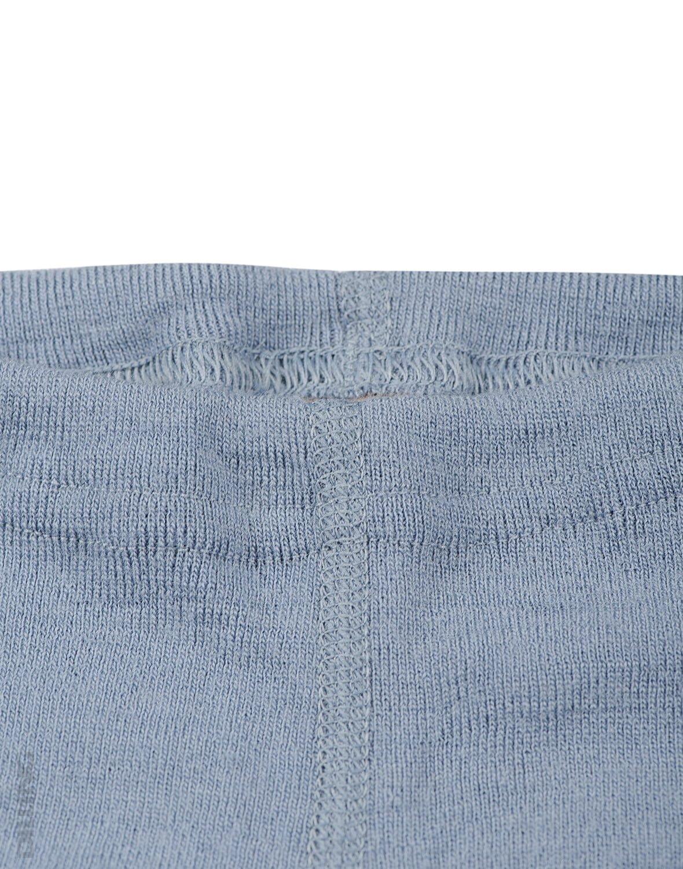 Pantaloni colanţi blue din lână merinos organică pentru bebeluşi Dilling 1