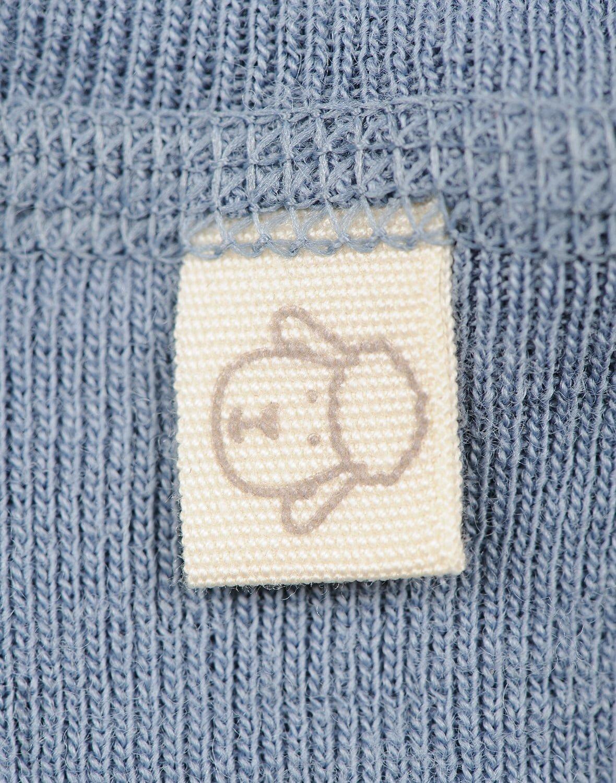 Pantaloni colanţi blue din lână merinos organică pentru bebeluşi Dilling 2