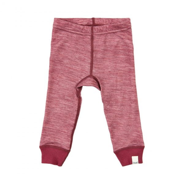 Pantaloni colanţi din lână merinos şi bambus maroon red CeLaVi