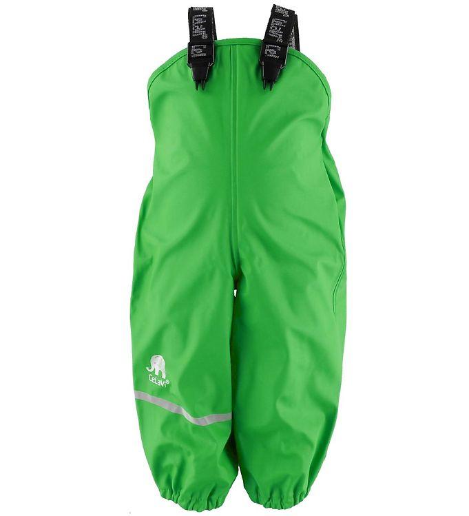 Pantaloni de ploaie și vânt (impermeabil) green CeLaVi