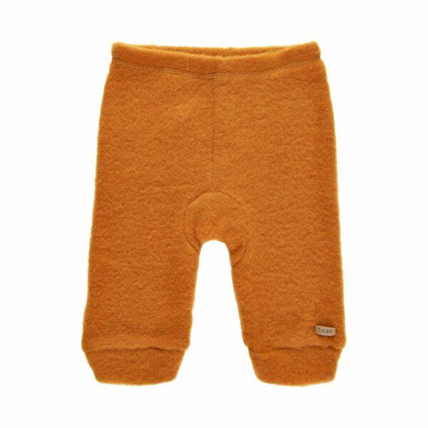 Pantaloni din lână merinos fleece Pumpkin Spice Celavi