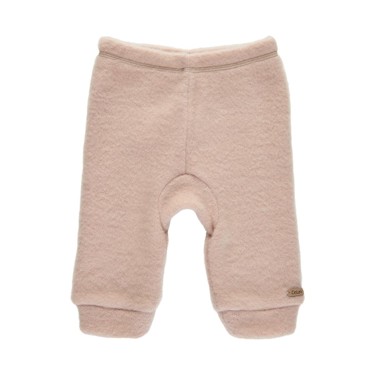 Pantaloni din lână merinos fleece light taupe Celavi