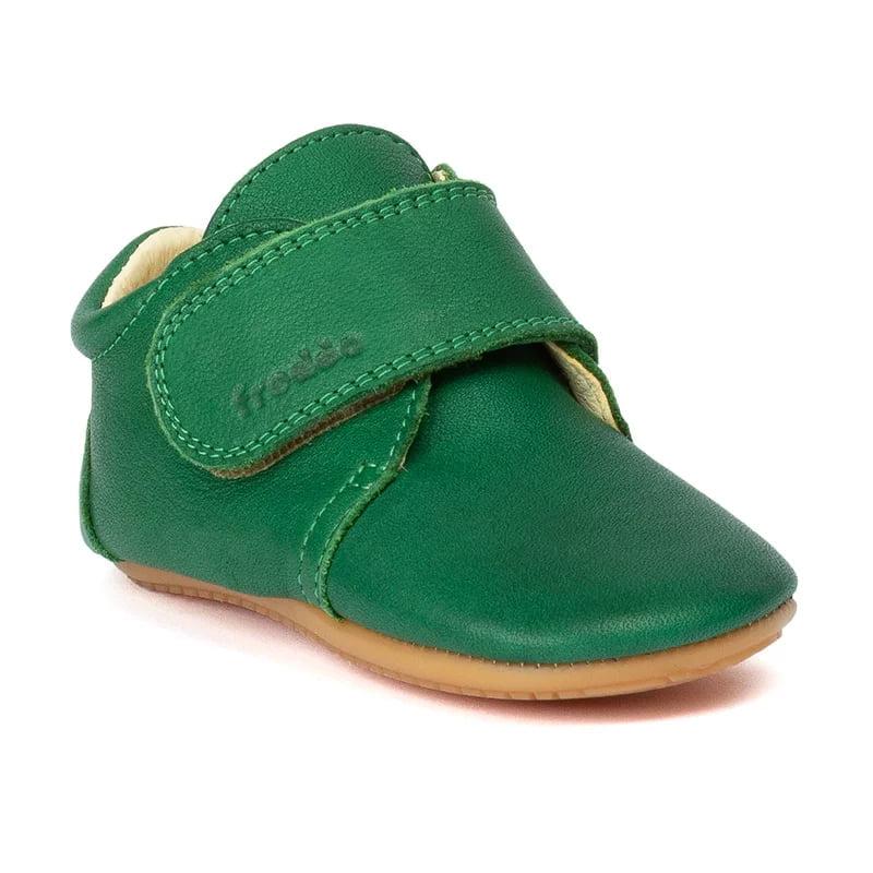Pantofi barefoot din piele pentru primii pași green Froddo 1