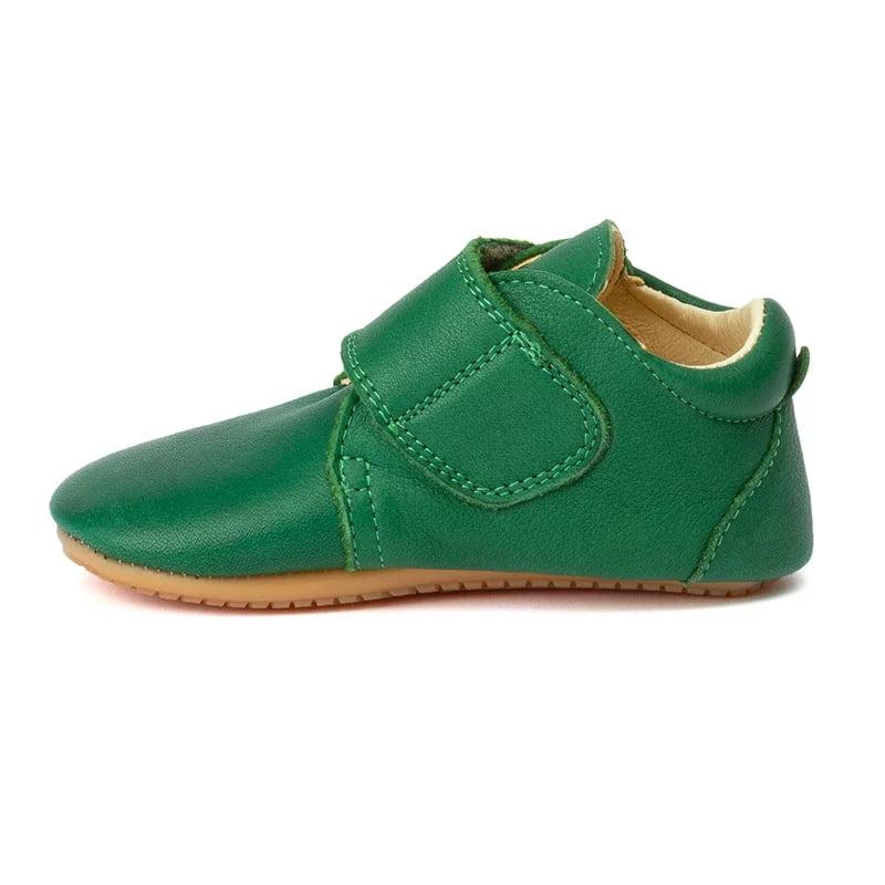 Pantofi barefoot din piele pentru primii pași green Froddo 2