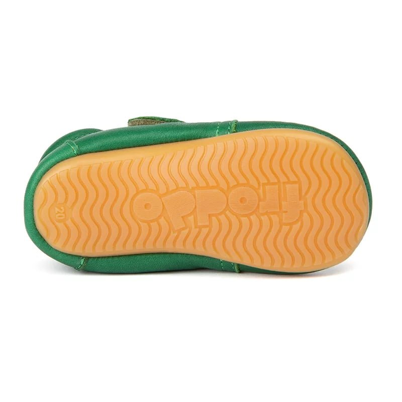 Pantofi barefoot din piele pentru primii pași green Froddo 3