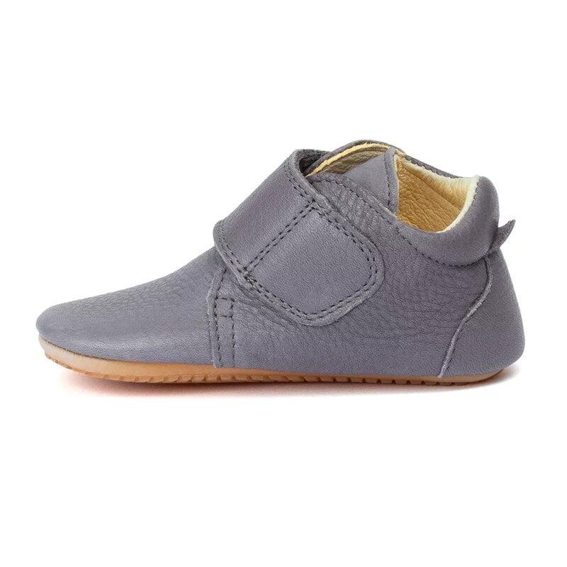 Pantofi barefoot din piele pentru primii pași light grey Froddo 2