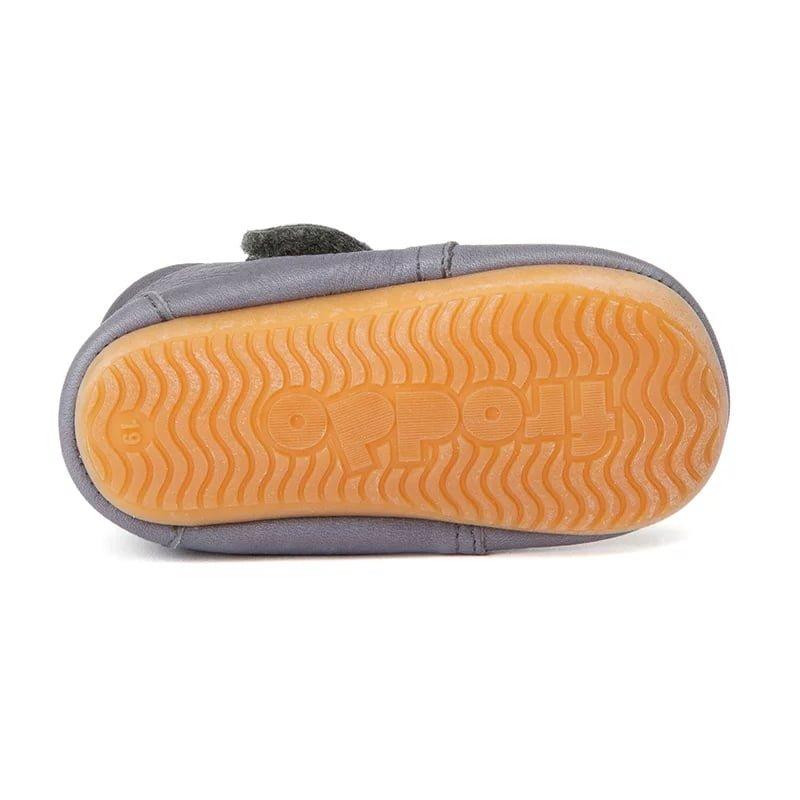Pantofi barefoot din piele pentru primii pași light grey Froddo 3