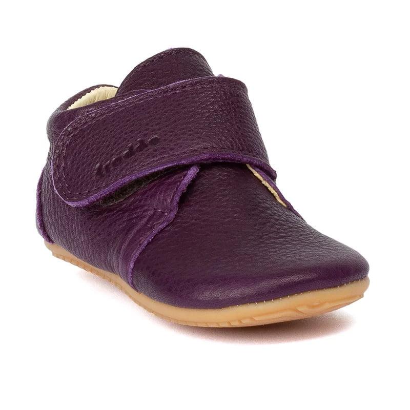 Pantofi barefoot din piele pentru primii pași purple Froddo 1