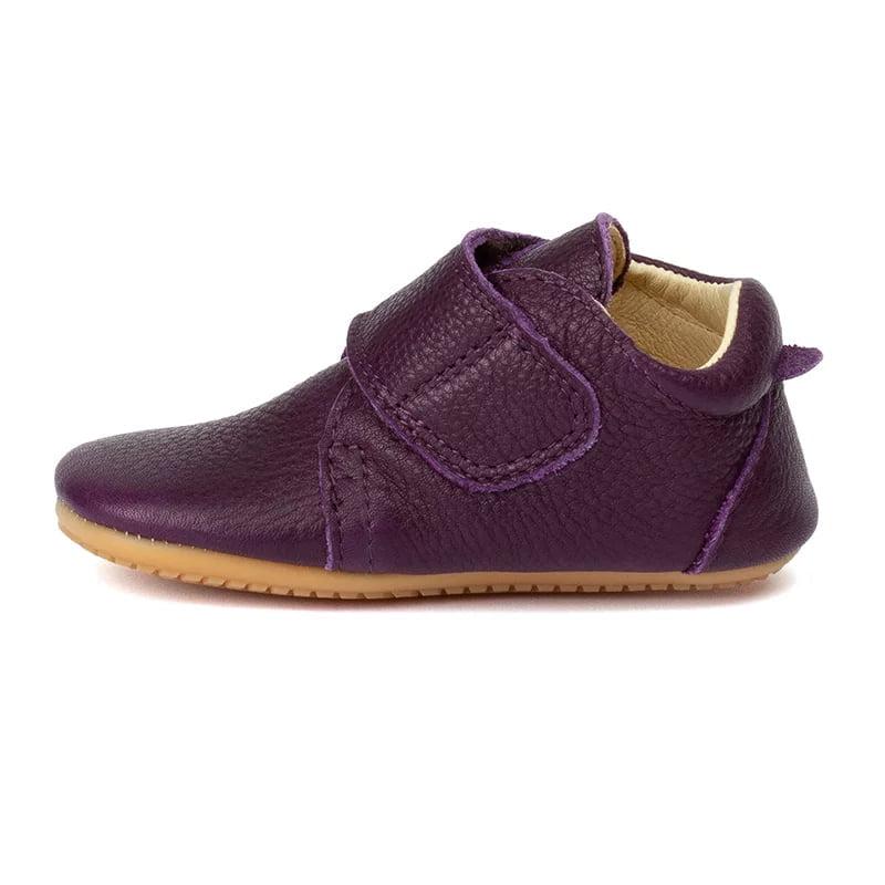 Pantofi barefoot din piele pentru primii pași purple Froddo 2