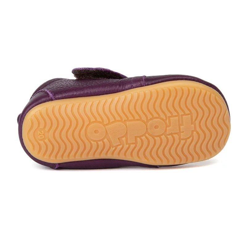 Pantofi barefoot din piele pentru primii pași purple Froddo 3