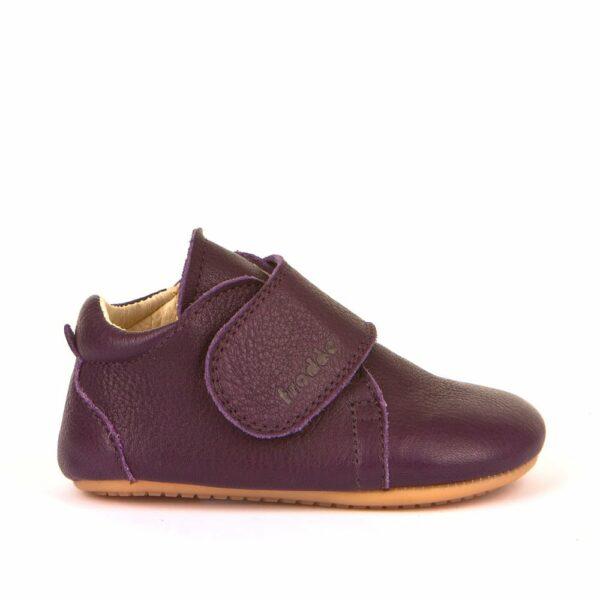 Pantofi barefoot din piele pentru primii pași purple Froddo