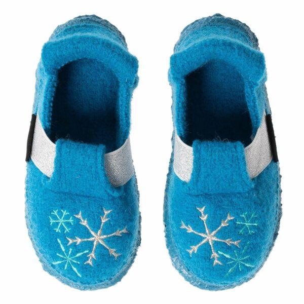 Papuci din lână organică cu talpă antiderapantă din cauciuc natural Ice Nanga
