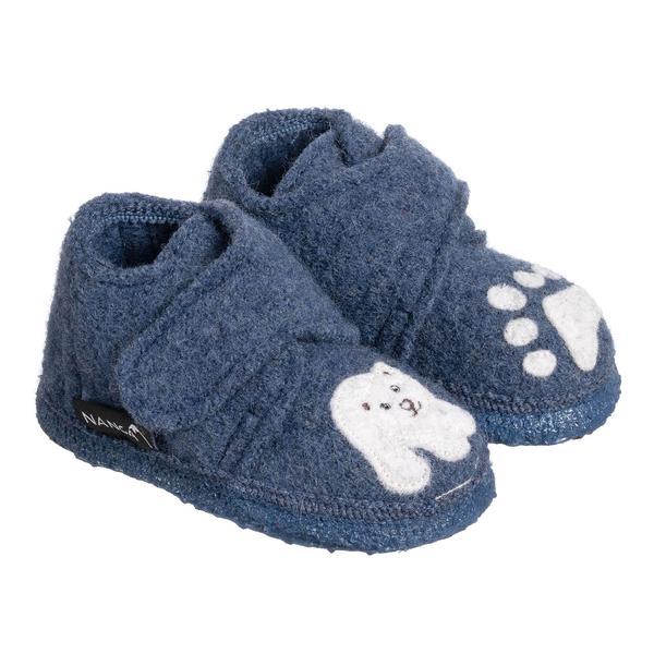 Papuci din lână organică cu talpă din cauciuc natural Little Polar Bear Nanga 2