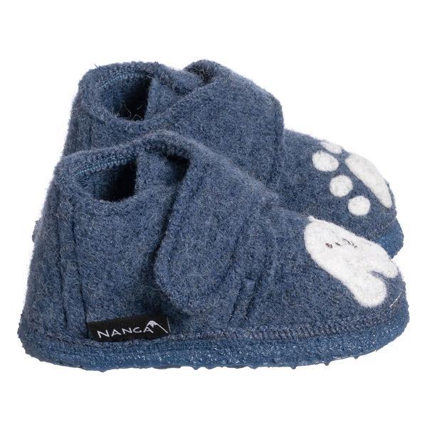 Papuci din lână organică cu talpă din cauciuc natural Little Polar Bear Nanga 3
