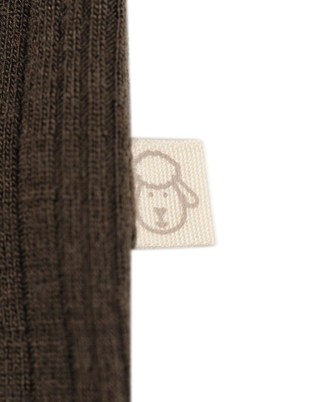 Salopetă – pijama overall chocolate brown din lână merinos organică rib pentru bebeluși Dilling 2