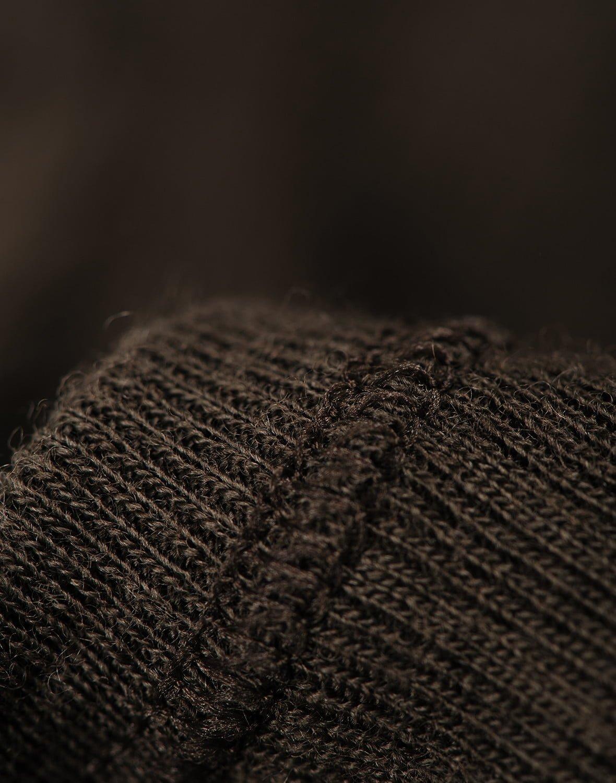 Salopetă – pijama overall chocolate brown din lână merinos organică rib pentru bebeluși Dilling 4