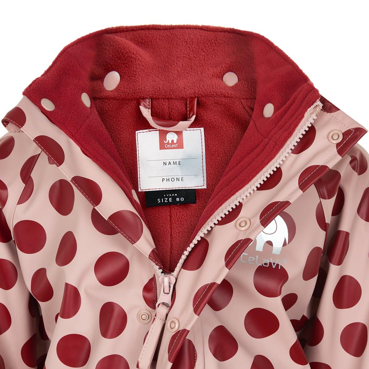 Salopetă de ploaie și vânt (impermeabilă) căptușită integral cu fleece misty rose CeLaVi 2