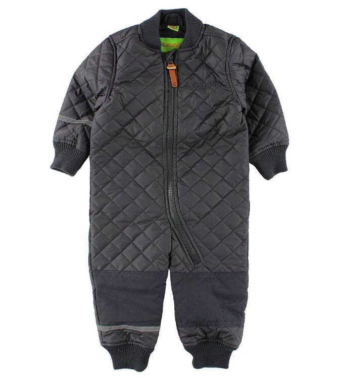 Salopetă overall termică matlasată şi căptuşită cu fleece deep stone grey CeLaVi 1