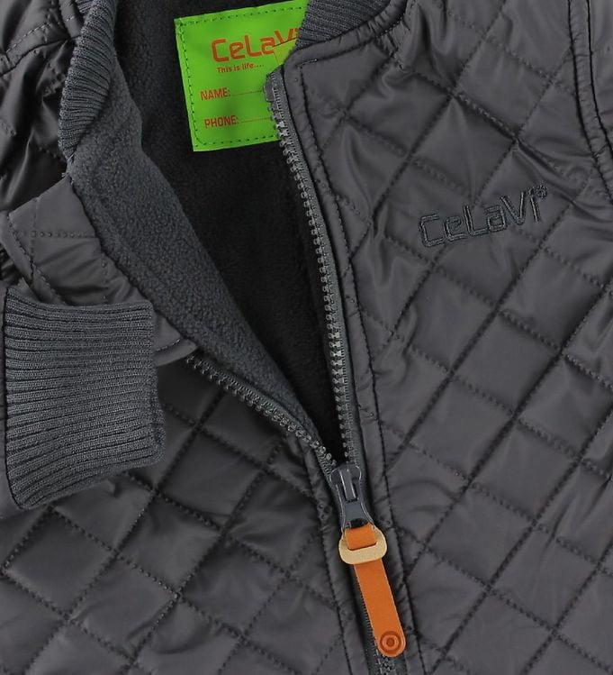 Salopetă overall termică matlasată şi căptuşită cu fleece deep stone grey CeLaVi 3