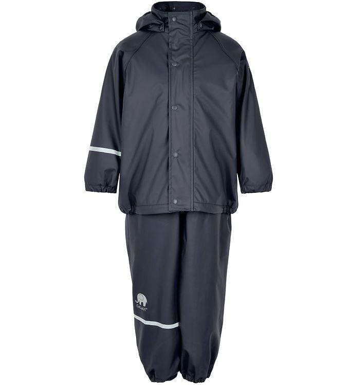 Set de ploaie și vânt (impermeabil) căptușit integral cu fleece navy Celavi
