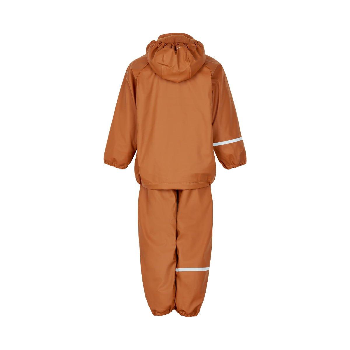 Set de ploaie și vânt (impermeabil) căptușit integral cu fleece pumpkin spice Celavi 2