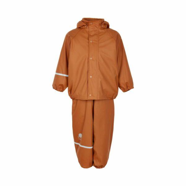 Set de ploaie și vânt (impermeabil) căptușit integral cu fleece pumpkin spice Celavi