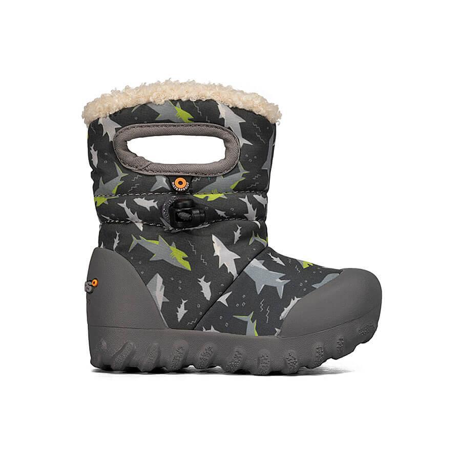 BOGS Footwear cizme de iarnă impermeabile B-MOC Sharks Dark Gray Multi 1