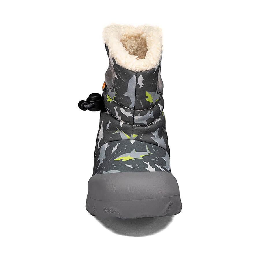 BOGS Footwear cizme de iarnă impermeabile B-MOC Sharks Dark Gray Multi 2