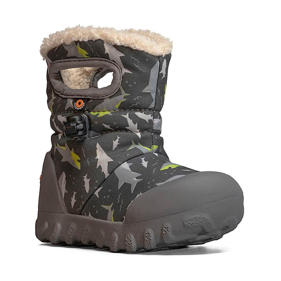 BOGS Footwear cizme de iarnă impermeabile B-MOC Sharks Dark Gray Multi
