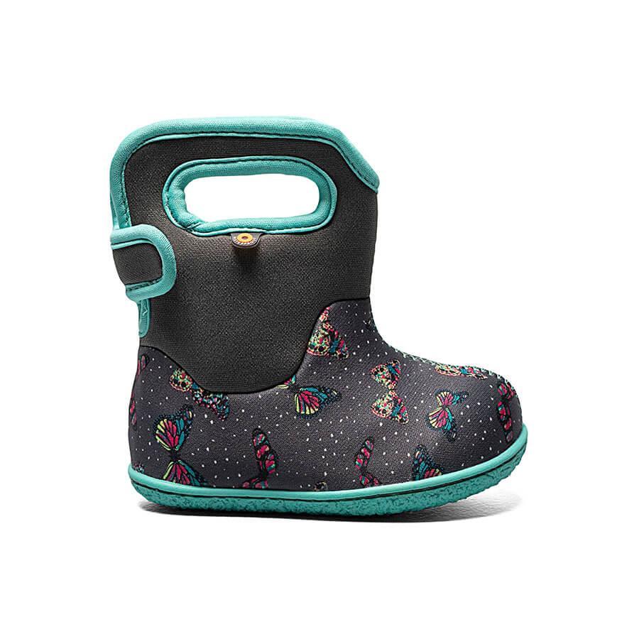 BOGS Footwear cizme de iarnă impermeabile Baby Bogs Butterfly Dark Gray Multi 1
