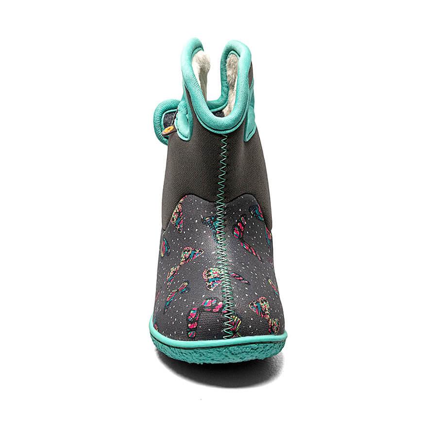 BOGS Footwear cizme de iarnă impermeabile Baby Bogs Butterfly Dark Gray Multi 2