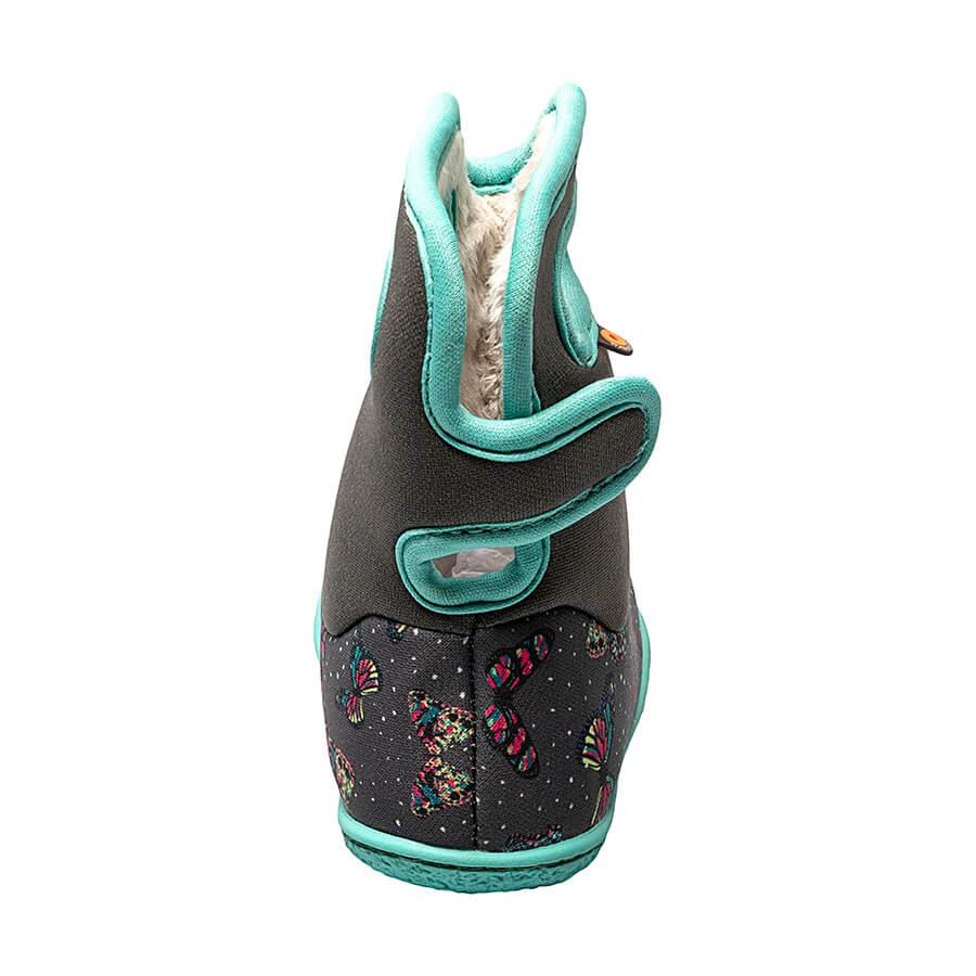 BOGS Footwear cizme de iarnă impermeabile Baby Bogs Butterfly Dark Gray Multi 4