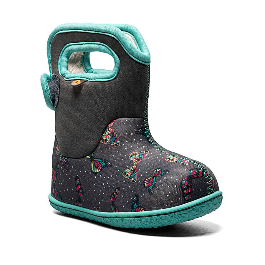 BOGS Footwear cizme de iarnă impermeabile Baby Bogs Butterfly Dark Gray Multi