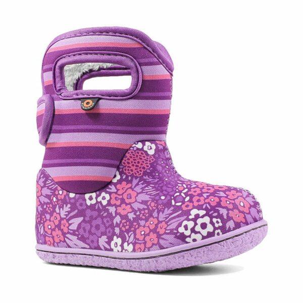 BOGS Footwear cizme de iarnă impermeabile Baby Bogs Northwest Garden Purple Multi